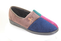 European-made four-colour mens' Comfylux slipper from Veganline.com