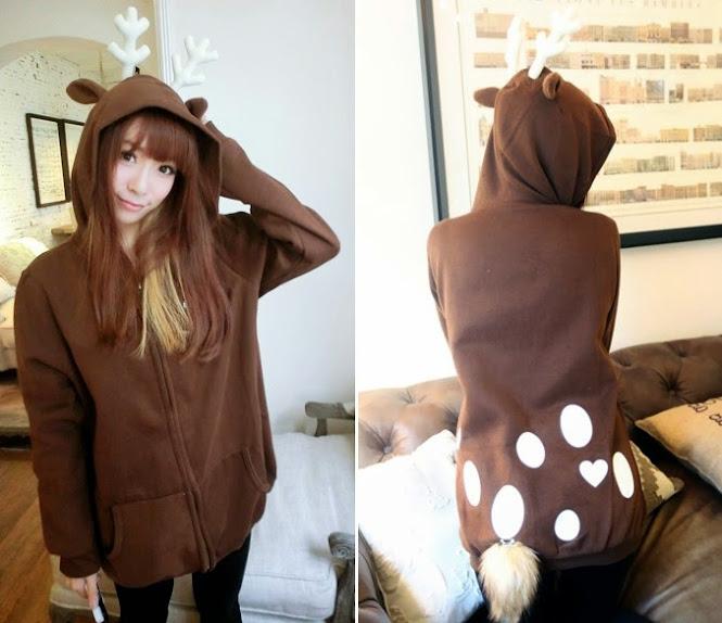 coklat, deer jacket, fleece, Hoodie, hoodie korea murah, korea, murah, warna, Pre Order, fashion korea, hoodie lucu