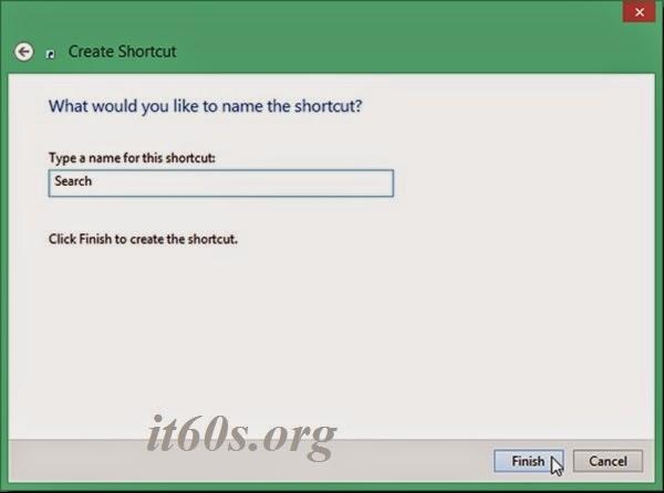 Thủ thuật tạo biểu tượng tìm kiếm ngay trên Desktop 3