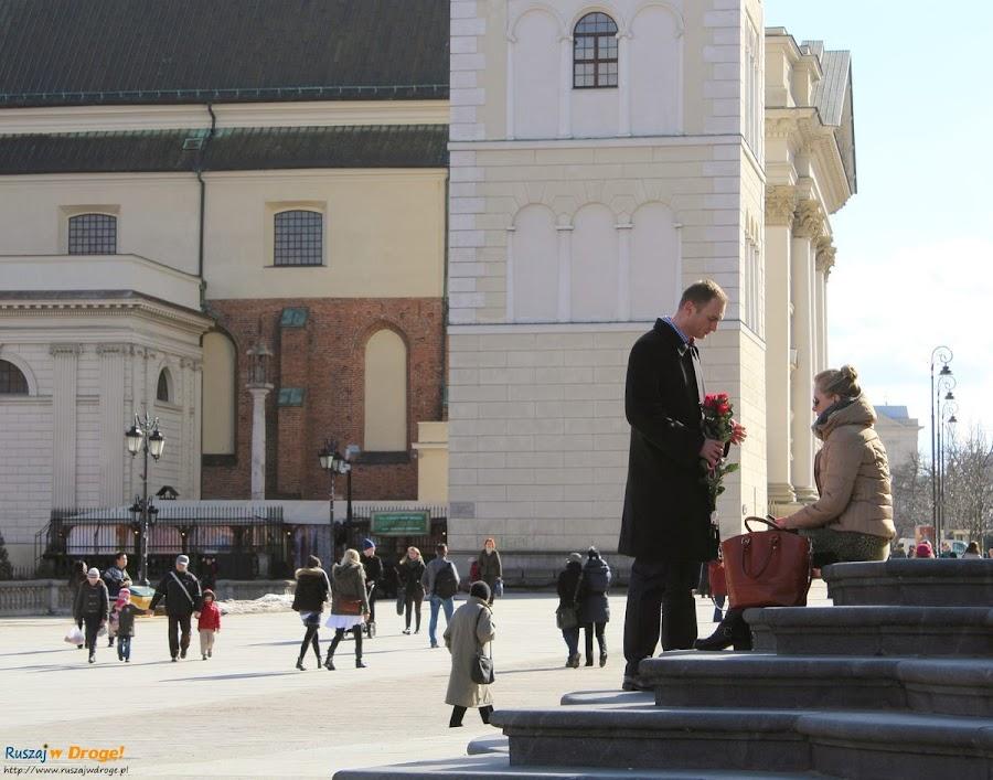 Warszawa - przeprosiny przed kolumną Zygmunta