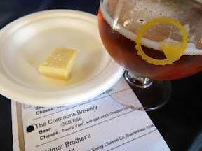 Portland Beer and Cheese Festival, beer and cheese pairing, The Commons Berwery, Steve's Cheese, The Commons Brewery CCB ESB, paired with Neal's Yard Dairy Montgomery's Cheddar, raw cow, U.K.