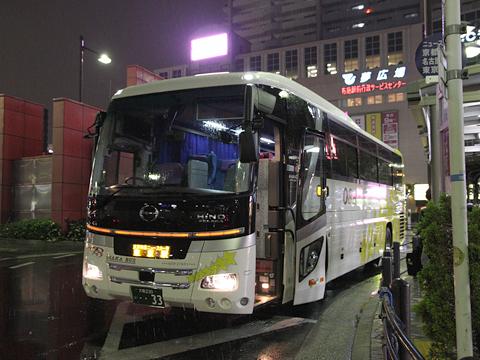 大阪バス「東京特急ニュースター号」 ・・33 布施駅改札中