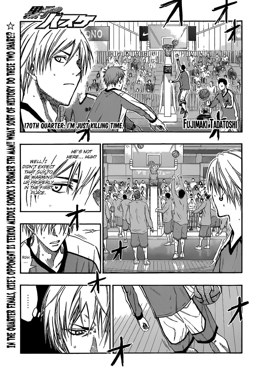 Kuroko no Basket Manga Chapter 170 - Image 01