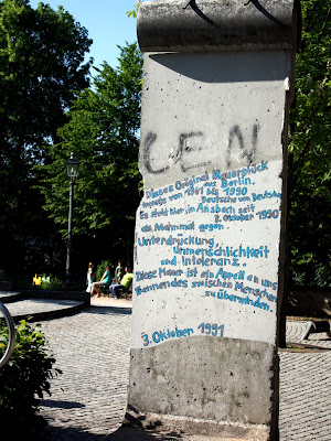 Berlin Wall in Ansbach Germany