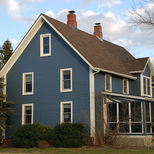 Oxford blue vinyl siding joy studio design gallery for Blue siding house