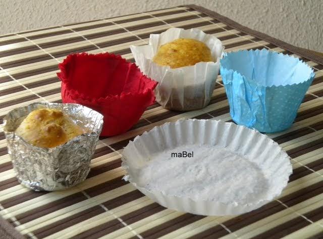 Moldes para cupcakes o magdalenas caseros pasteles de colores - Moldes papel magdalenas ...