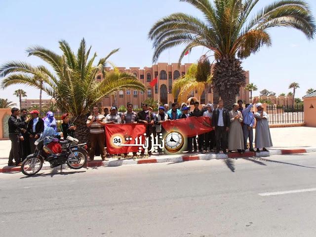 احتجاج  من أجل النقل السري لسكان من أربعاء الساحل بتيزنيت