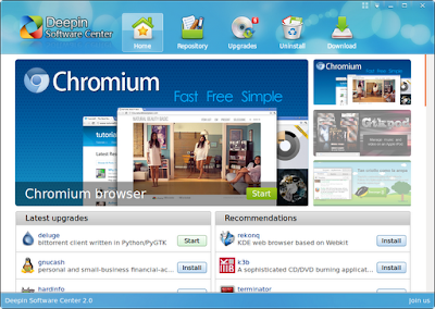 Deepin Software Center running on Xubuntu 12.04