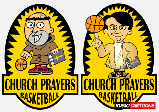 BASKETBALL LOGO DESIGN FOR CHURCH PRAYERS
