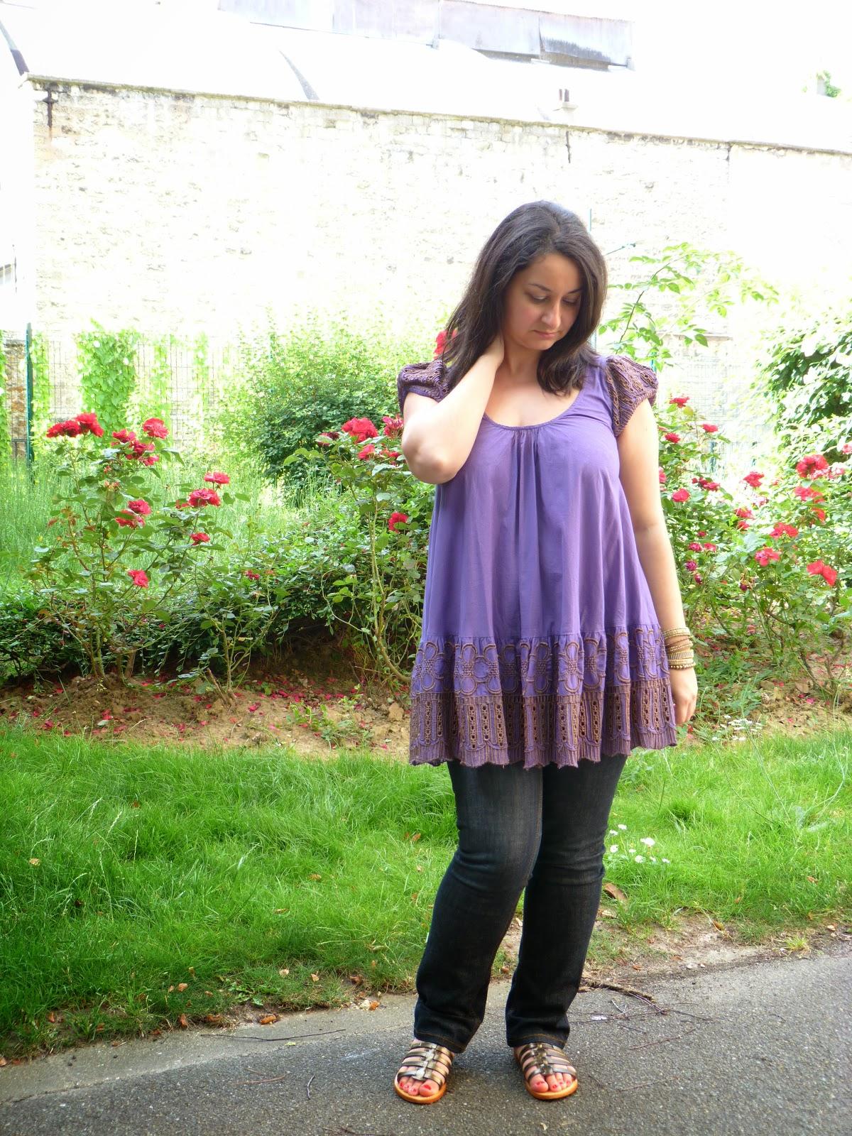 Blouse Antik Batik violet