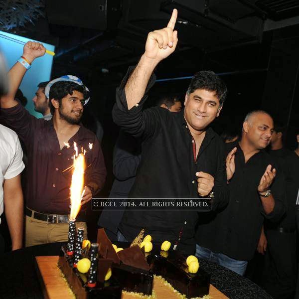Ranjit Batra during a DJ party in the city.