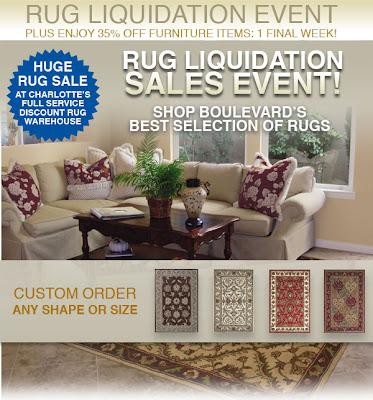 Boulevard Bazaar Home Furnishings Rug Sale in Charlotte NC