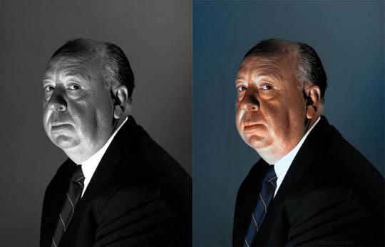 Алфред Хичкок - Най-известните исторически черно-бели фотографии в цвят
