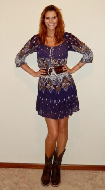 Summer Fashion 70s Boho Dress
