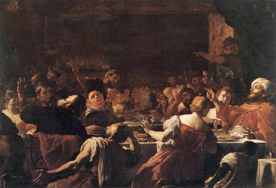 Mattia Preti - Baldassarre's Feast.