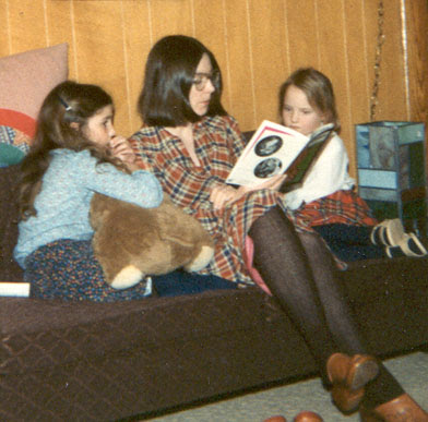 Wendy and daughters in 1978