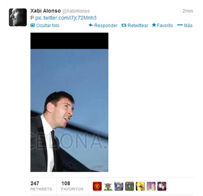 Xabi Alonsos Twitter account hacked, posts curious picture of Lionel Messi