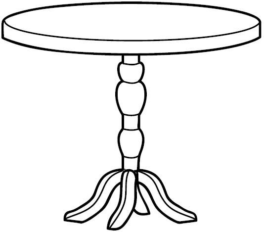 tables coloring pages - photo #19