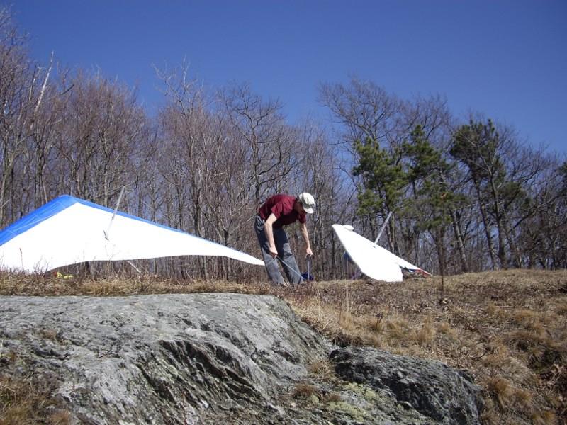 ARt G doing some yard work at Hinesburg