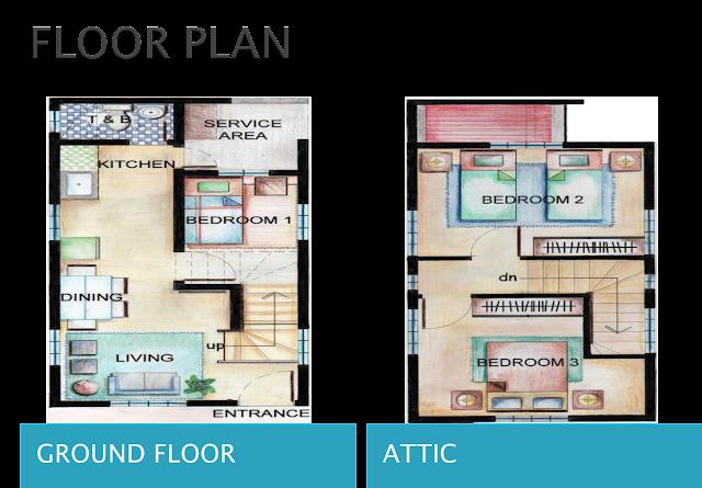 Single detached house and lot batangas city pag ibig for Single detached house floor plan