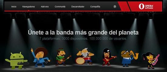 opera mini mobile plataformas