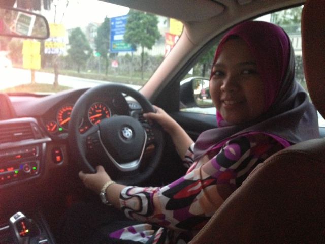 Test drive BMW F30 at Ingress Auto by DSM Shuhada