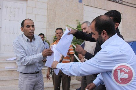 Protesters in Bethlehem burned copies of the Paris Protocol.