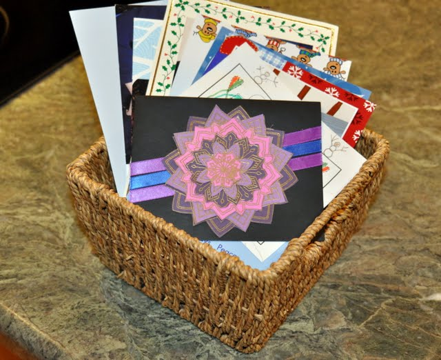 Basket of Holiday Cards