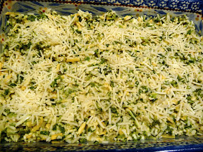 spinach parmesan rice bake vegetables casserole