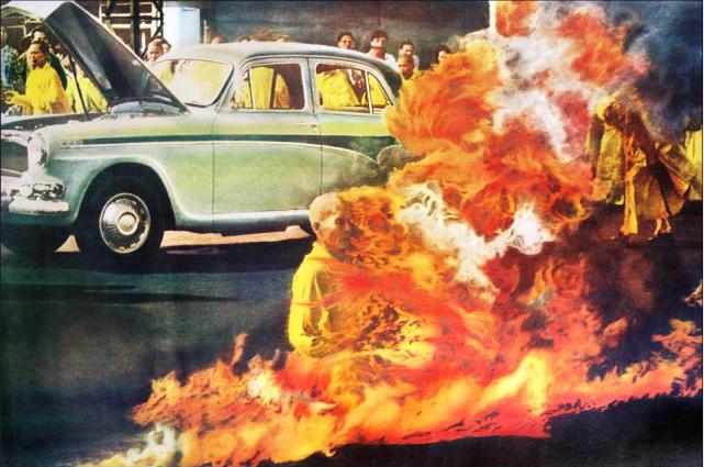 Có bao nhiêu bức ảnh lịch sử Hòa Thượng Thích Quảng Đức tự thiêu?