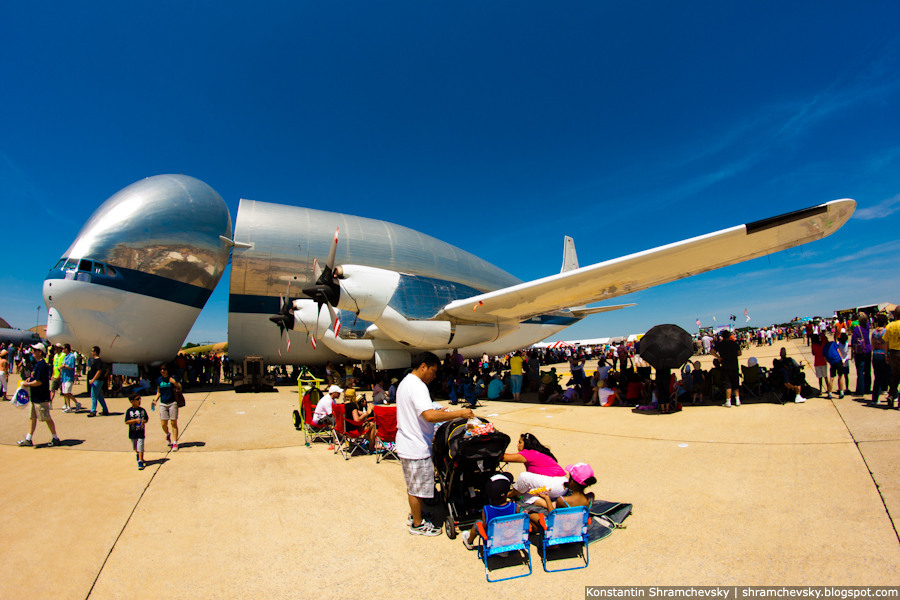 USA Andrews Air Force Base NASA Aero Spacelines Super Guppy США Эндрюс Авиабаза НАСА Аэро Спейслайнз Супер Гуппи