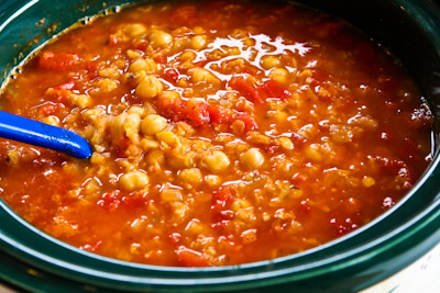The lentils and chickpeas should both be quite soft when the soup has ...