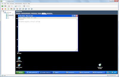 Verificación inicial de máquina virtual origen en ESXi