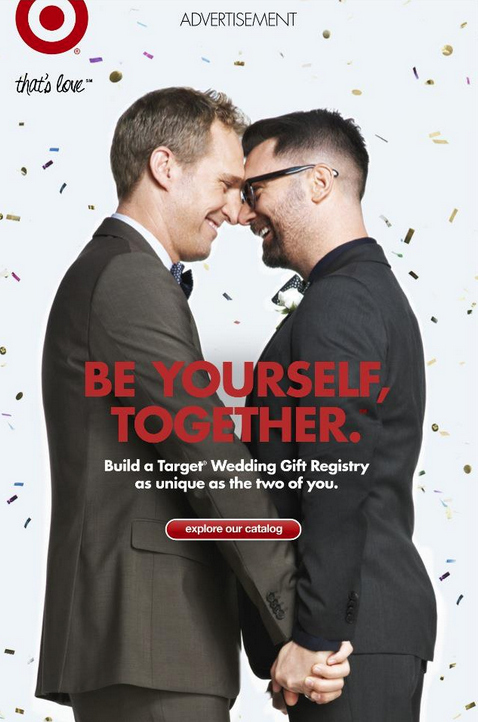 "Target ""Be Yourself, Together"" Print Ad"