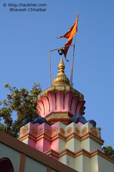 Steeple of Ranjangaon temple on Pune-Ahmednagar state highway number 27