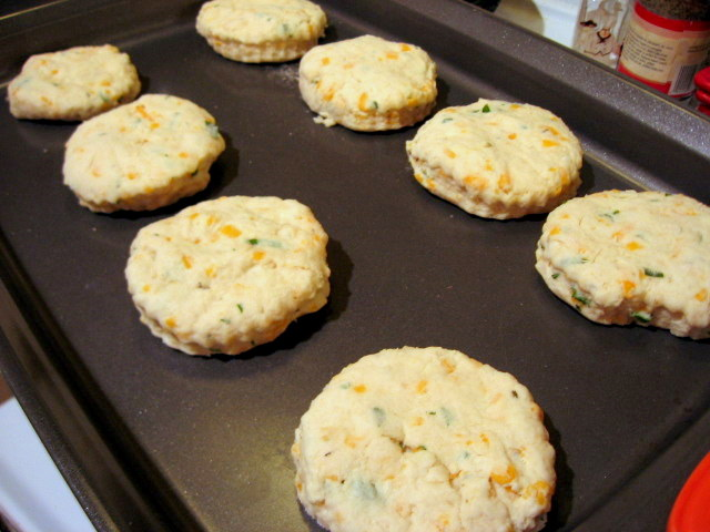 St Patrick's Day Cheddar Biscuits are so much fun to make, and easy too!  Perfect as a side to Irish Stew or other celebration dishes! Slice of Southern