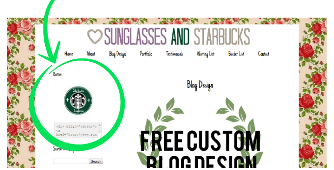 кнопка блога баннер блога