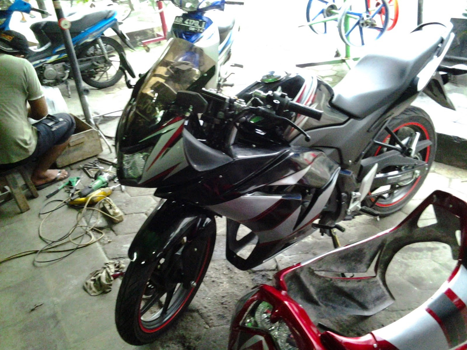 Cb150r Modifikasi Fairing Ninja Rr