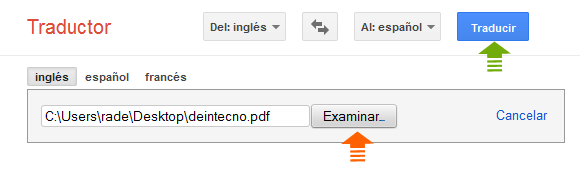Google Translate: PDF