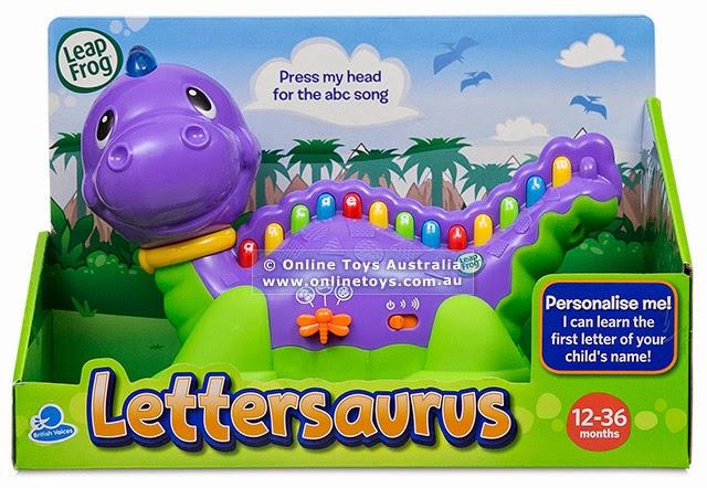 Hộp sản phẩm Khủng long học chữ phát nhạc Leapfrog Lettersaurus