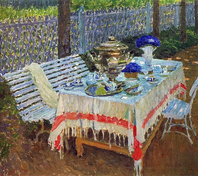 Igor Grabar - Morning Tea-1917