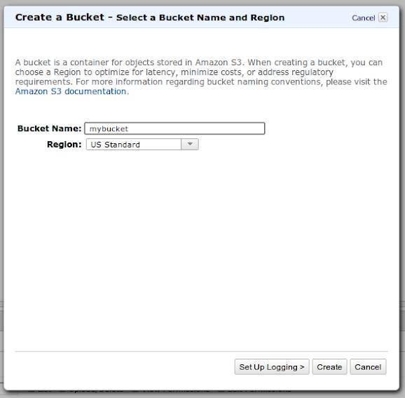 Create a bucket