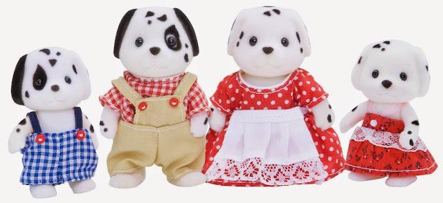 Gia đình nhà Chó đốm Dalmatian Family rất xứng được sống trong những ngôi nhà nhỏ của các gia đình sylvanian