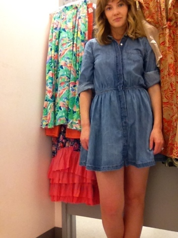 short denim dress rachel parrish