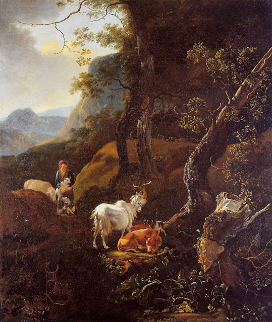 Adam Pynacker - Young shepherd with cattle