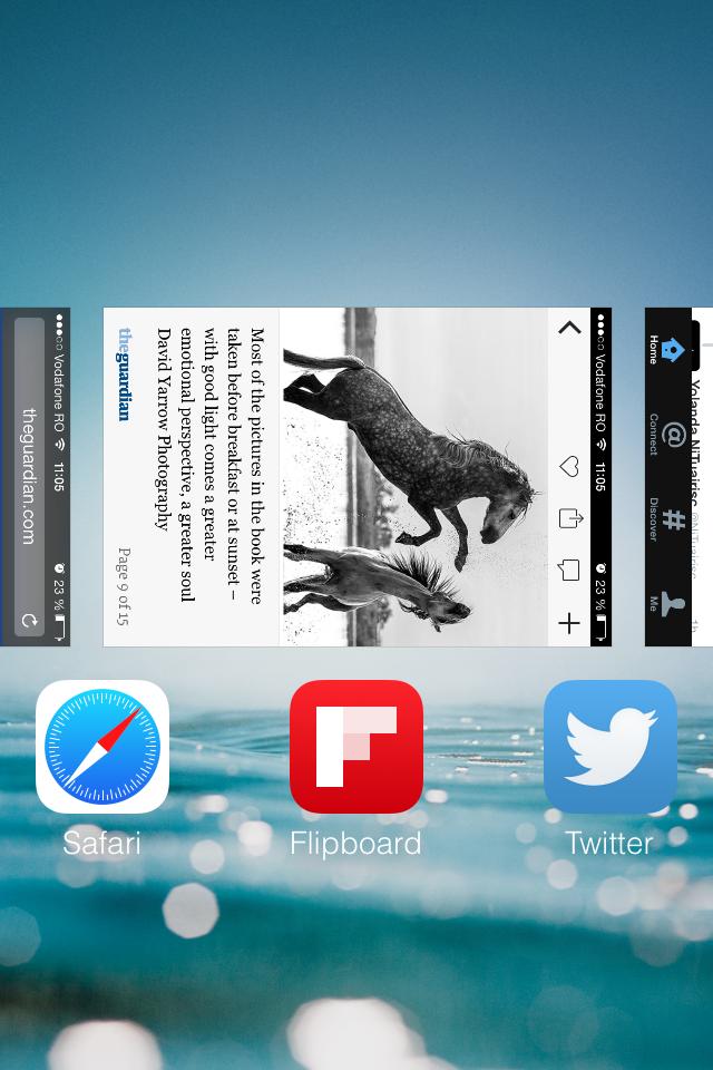 iOS 7 rotated multitasking