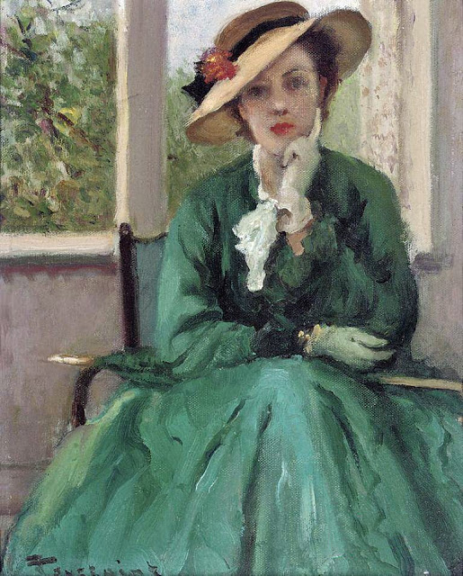 Fernand Toussaint - The green dress