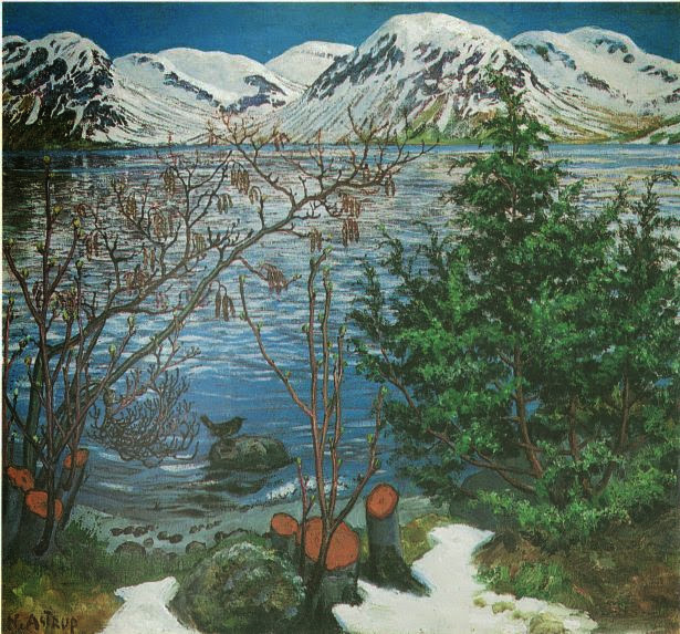 Nikolai Astrup - Bird on a Rock