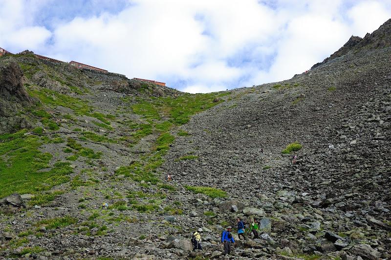 槍ヶ岳最後の急登の写真