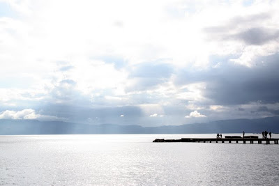 Pier on Lake Ohrid Macedonia